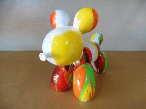 Chiens ballons multicolores dominante orange