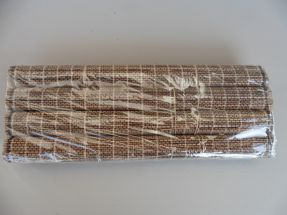 Baguettes pour 4 et sets en rafia couleur tressé