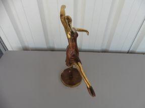 Ballerine à la pointe deux tons de bronze