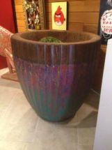Grand pot en Palmier à godrons
