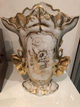 Vase  porcelaine en vieux Paris L.philippe