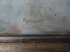 Huile sur toile de Molinetti 19ème